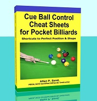Cue Ball Control Cheat Sheets