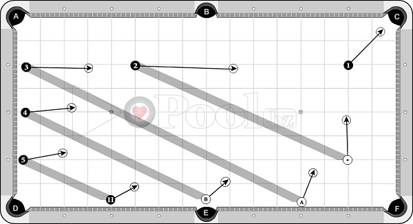Drills & Exercises - Pocket Skills (progressive) - cross-angle sets - 1D out to pocket