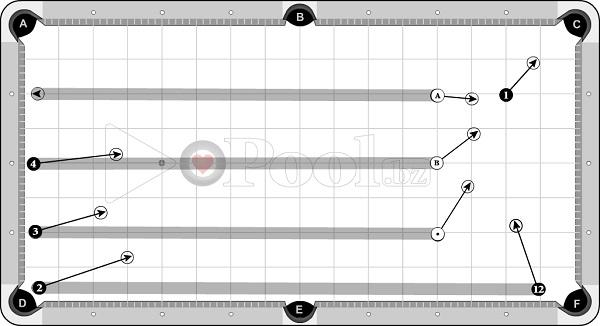 Drills & Exercises - Pocket Skills (progressive) - long table sets - 1D out to pocket