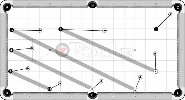 Drills & Exercises - Pocket Skills (progressive) - cross-angle sets - 1D out to pocket